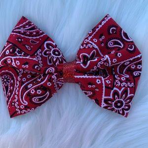 Western hair bow